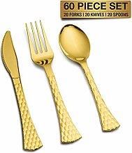 Einweg Kunststoff Gold Besteck-Set Heavy Duty