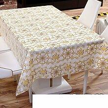Einweg-Tischdecke/ Wasser und Öl Beweis Tischdecke/Kein Geruch Kunststoff-Matte/Garten-Tischdecke/ Coffee Table Mat-D 138x220cm(54x87inch)