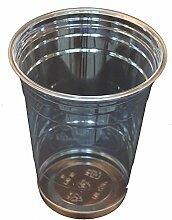 Einwegbecher Ausschankbecher Trinkbecher 0,2 l klar PP, 1000 Stück Frei Haus