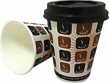 Einwegbecher für heiße Getränke, Kaffee, Tee,