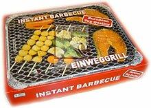Einweggrill - Komplettset inkl.Grill & Kohle &