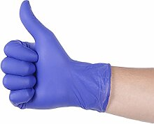 Einweghandschuhe, Nitril, weich, Größe XL, blau,