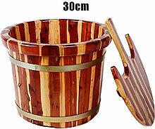 Einweichen Fuß-Badefass, roter Kern Zedernholz,