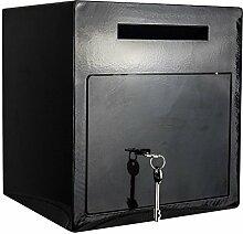 Einwurftresor   Tresor für Bar, Kneipe, Lounge   Schlüsselschloss   Hochglanz Schwarz