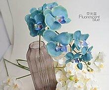Einzel Simulation Phalaenopsis Heimtextilien Wohnzimmer dekorative k¨¹nstliche Blumen Hotel Hochzeit wei?er Seide Blume Blumen neun 92CM