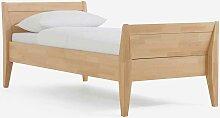Einzelbett aus Buche Massivholz mit Überlänge