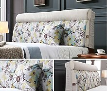 Einzelbett Doppelbett Bedside Kissen, Softcase, Bett Rückenlehne, Abnehmbare Kissen ( MUSTER : D )