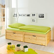 Einzelbett Sandra mit Stauraum Natur Pur Größe: