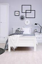 Einzelbett Schlafzimmerbett Bett HOME 90x200 cm Weiß Landhausstil