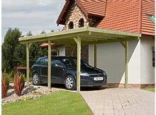 Einzelcarport mit PVC-Dach Pfosten 9x9 cm, 303x505