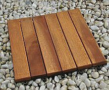 Einzelfliese 01, Terrassenfliese aus Akazien-Holz,