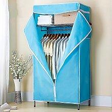Einzelne einfache Tuch Stahlrahmen Oxford Tuch einfache moderne Commoner Lagerschrank ( Farbe : 3 )