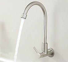 einzelne kalte Wand Wasserhahn Waschbecken