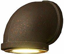 Einzelner Kopf Wasserrohr Wandlampe, Metall