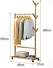 Einzelschiene Bambus Kleiderständer Mit 8