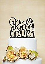 Einzigartige Cake Topper Spule Love Hochzeit