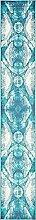 Einzigartige Loom 3137729Abstrakt Vintage 2Füße (2'x) Läufer Sofia Bereich Teppich, 2,5x 13, türkis
