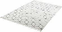 einzigartiger Teppich Flachgewebe hand woven grau ca. 80 x 150 cm