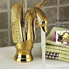 Einzigen griff Swan goldenes Waschbecken