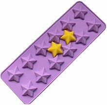 Eis Am Stiel Formen 12 Sterne 3D Silikon Candy