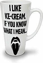 Eis Sahne Sprichwort Heiß Sexy Weiß Keramisch Latte Becher 17 oz | Wellcoda