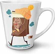 Eis Tee Kalt Weiß Keramisch Latte Becher 12 oz | Wellcoda