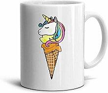 Eis und Sahne Nette Kaffeetassen Weiße