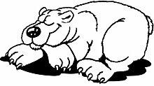 Eisbär Aufkleber 001, 50 cm, schwarz