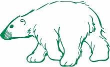 Eisbär, Größe 60 cm Breite, 36 cm Höhe, Farbe Grün Eisbär Aufkleber, Geschenke, Fenster, Wand Aufkleber, Weihnachten, ThatVinylPlace