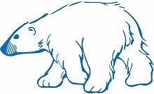 Eisbär, Größe 60 cm Breite, 36 cm Höhe, Farbe Medium Blue Eisbär Aufkleber, Geschenke, Fenster, Wand Aufkleber, Weihnachten, ThatVinylPlace