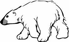 Eisbär, Größe 60 cm Breite, 36 cm Höhe, Farbe Schwarz Eisbär Aufkleber, Geschenke, Fenster, Wand Aufkleber, Weihnachten, ThatVinylPlace