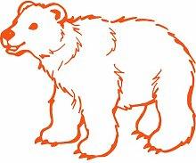 Eisbär, Größe 60 cm Breite, 48 cm Höhe, Farbe orange Eisbär Aufkleber, Geschenke, Fenster, Wand Aufkleber, Weihnachten, ThatVinylPlace