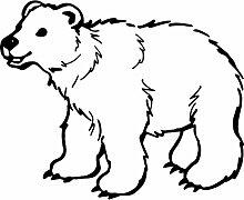 Eisbär, Größe 60 cm Breite, 48 cm Höhe, Farbe Schwarz Eisbär Aufkleber, Geschenke, Fenster, Wand Aufkleber, Weihnachten, ThatVinylPlace