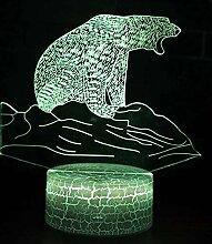 Eisbär Thema 3D Lampe LED Nachtlicht 7