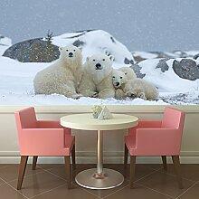 Eisbär Wandbild Weiß Winter Tier Foto-Tapete Kinderzimmer Wohnkultur Erhältlich in 8 Größen Riesig Digital