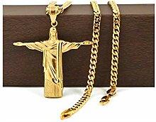 Eisbox Edelstahl 14k vergoldet Christus der