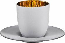 Eisch Espressoglas Cosmo gold, (Set, 2 tlg.),