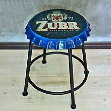 Eisen Bier Deckel Retro Hocker Schmiedeeisen Stuhl Mode Kreative Bar Western Restaurant Bierflasche Cover Hocker,Blue,A