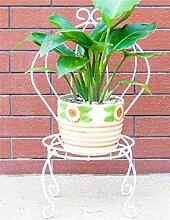 Eisen Blume Topf Regal Pflanze Stand Modern Minimalistischen Wohnzimmer Balkon Blumenregal ( farbe : Weiß )