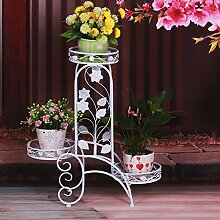 Eisen Blumen Regal / mehrstöckige Blume / Boden Stil Blumentopf Rack / europäischen Stil Garten Leiter Blume Stand ( Farbe : B )