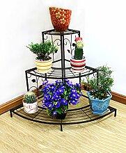 Eisen Blumenregal Multilayer Blumenregal Balkon Indoor Flower Pot Blumenregal Ecke Leiter Blumenregal Schwarz Und Bronze ( farbe : A )