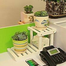 Eisen Blumenständer / Schreibtisch Massivholz Blumenständer Mini Lagerhaus Kleine Pflanze Rack Starke Tragfähigkeit ( Farbe : 4 )