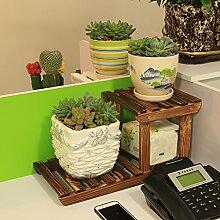 Eisen Blumenständer / Schreibtisch Massivholz Blumenständer Mini Lagerhaus Kleine Pflanze Rack Starke Tragfähigkeit ( Farbe : 6 )