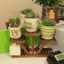 Eisen Blumenständer / Schreibtisch Massivholz Blumenständer Mini Lagerhaus Kleine Pflanze Rack Starke Tragfähigkeit ( Farbe : 10 )