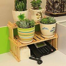 Eisen Blumenständer / Schreibtisch Massivholz Blumenständer Mini Lagerhaus Kleine Pflanze Rack Starke Tragfähigkeit ( Farbe : 1 )