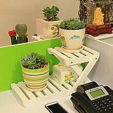 Eisen Blumenständer / Schreibtisch Massivholz Blumenständer Mini Lagerhaus Kleine Pflanze Rack Starke Tragfähigkeit ( Farbe : 9 )