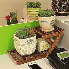 Eisen Blumenständer / Schreibtisch Massivholz Blumenständer Mini Lagerhaus Kleine Pflanze Rack Starke Tragfähigkeit ( Farbe : 7 )
