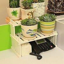 Eisen Blumenständer / Schreibtisch Massivholz Blumenständer Mini Lagerhaus Kleine Pflanze Rack Starke Tragfähigkeit ( Farbe : 3 )