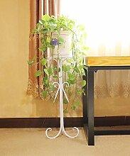 Eisen Blumentopf Regal Kreativ Pflanze Stand Blume Rack für Wohnzimmer Balkon Indoor ( farbe : Weiß , größe : 75cm )