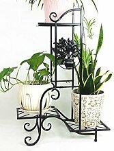 Eisen Blumentopf Regal Kreativ Pflanze Stand Blume Rack für Wohnzimmer Balkon Indoor ( farbe : Schwarz )